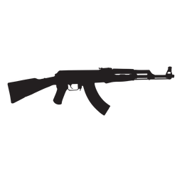 Ak47 assault rifle grey silhouette
