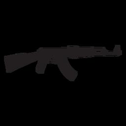 Silhueta de rifle de assalto Ak47 cinza