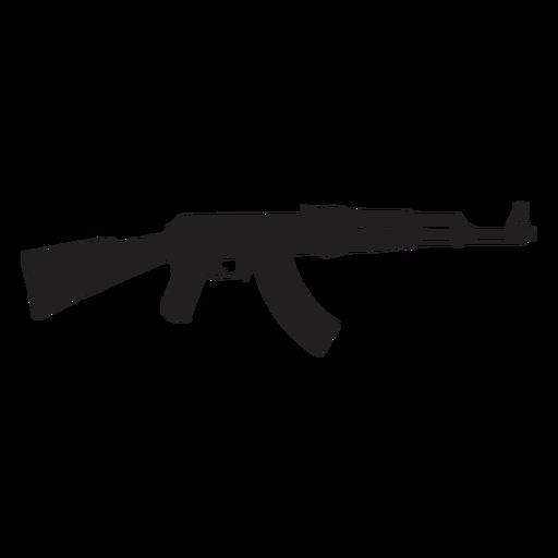 Silhueta de rifle de assalto Ak47 cinza Transparent PNG