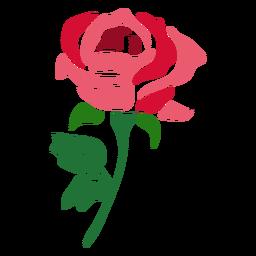 Hermosa flor de icono de rosa roja