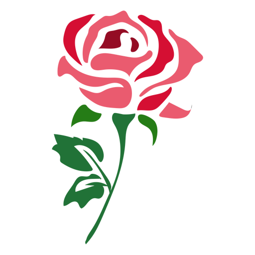 Beautiful red rose icon flower Transparent PNG