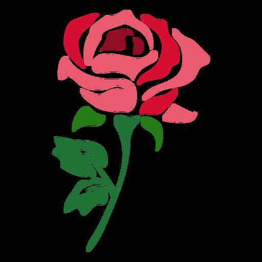 Flor hermosa icono rosa roja Transparent PNG