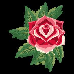 Flor rosa icono en flor