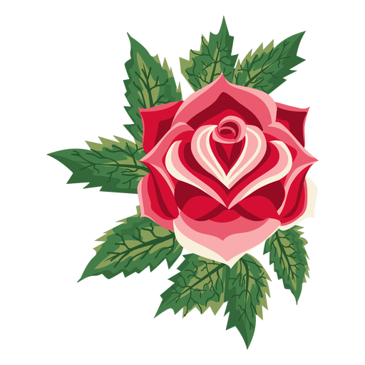 Blooming rose icon flower Transparent PNG