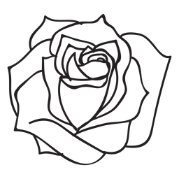 Blooming rose stroke icon flower