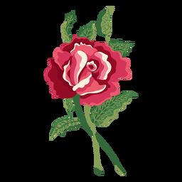 Flor floreciente icono de pintura de agua color de rosa