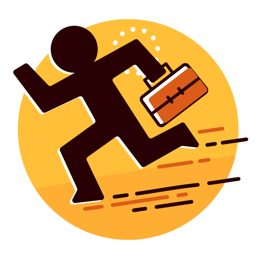 Businessman runaway icon Transparent PNG