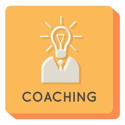 Coaching square icon