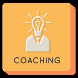 Coaching square icon
