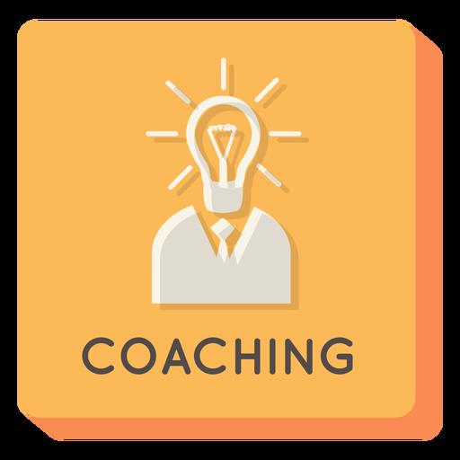 Coaching icono cuadrado