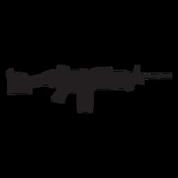 Colt semi auto rifle gris silueta
