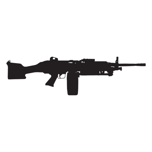 Colt semi auto rifle grey silhouette Transparent PNG
