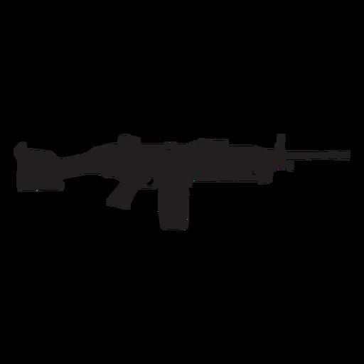 Colt semi auto rifle gris silueta Transparent PNG