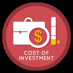 Custo do ícone de investimento