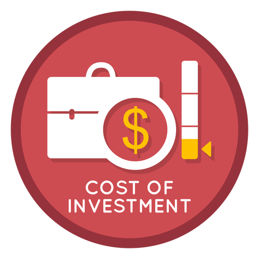 Cost of investment icon Transparent PNG