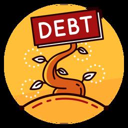 Ícone de crescimento da dívida