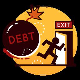 Debt runaway icon