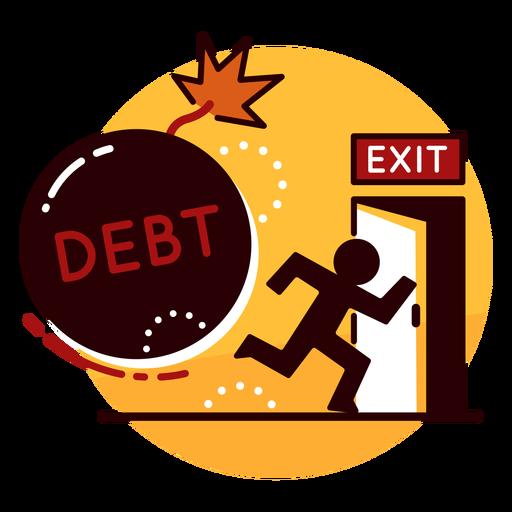 Debt runaway icon - Transparent PNG & SVG vector file