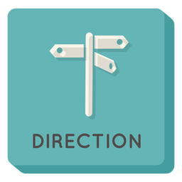 Direction square icon