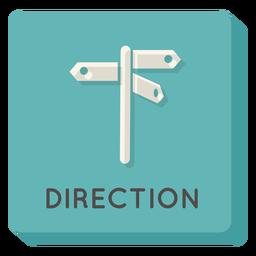 Ícone quadrado direção