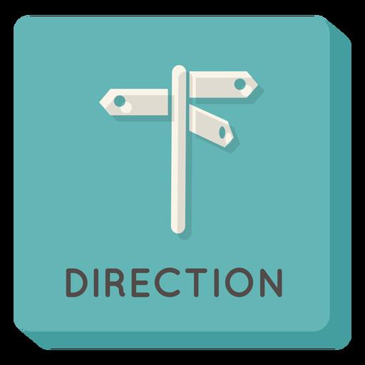 Direction square icon