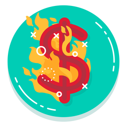 Dollar burn rate icon