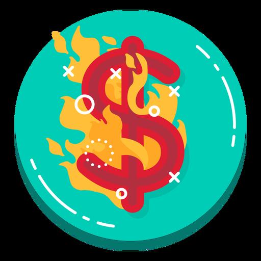 Icono de tasa de quema de dólares Transparent PNG