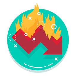 Down graph burn rate logo