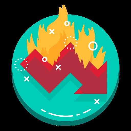 Down graph burn rate logo