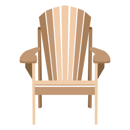 Eleganter Adirondack-Stuhl