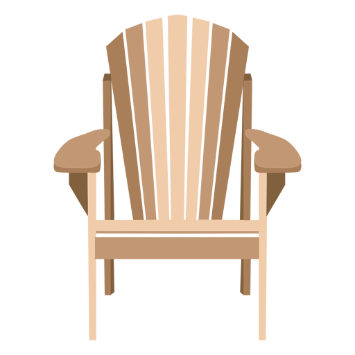 Elegant adirondack chair Transparent PNG