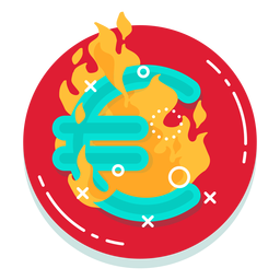 Euro burn rate icon