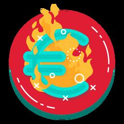 Icono de tasa de quema del euro