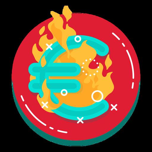 Icono de tasa de quema del euro Transparent PNG