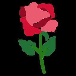 Flor rosa icono flor