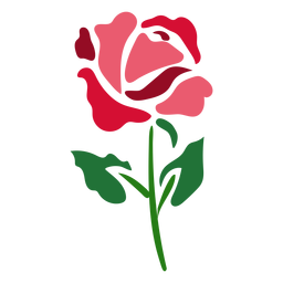 Flowering rose icon flower