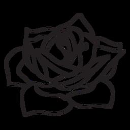 Flor rosa icono de trazo flor