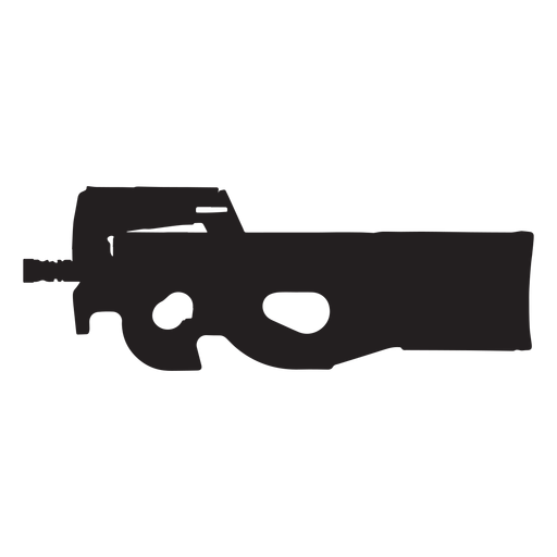 Fn p90 grey silhouette Transparent PNG