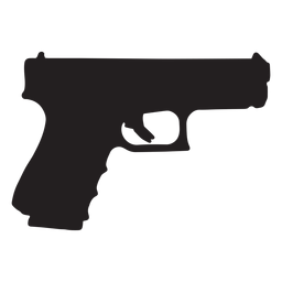 Glock pistol silhueta cinza