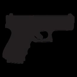 Glock pistola gris silueta