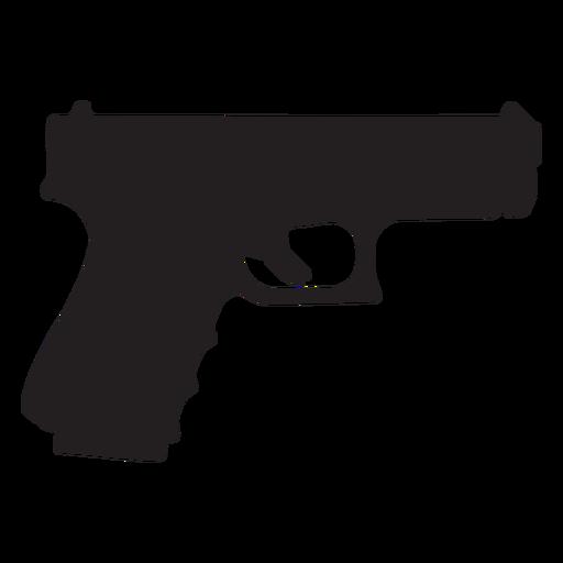 Glock pistola gris silueta Transparent PNG