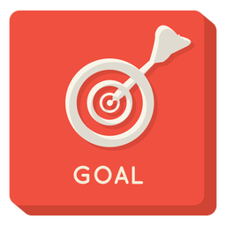 Ícone quadrado objetivo