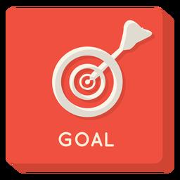 Icono cuadrado de la meta