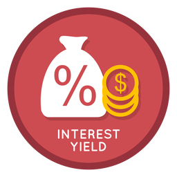 Interest yield icon