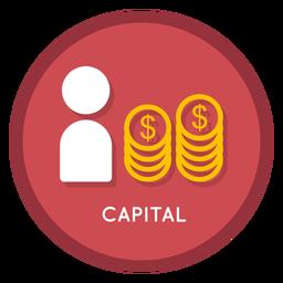 Icono de capital de inversión