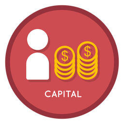 Investment capital icon