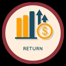 Icono de retorno de inversión