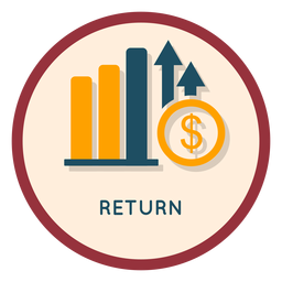 Investment return icon