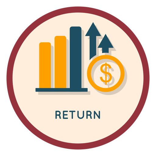 Investment return icon Transparent PNG