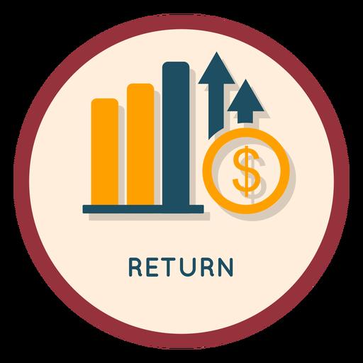 Investment return icon